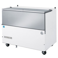 Beverage-Air SM49N-W-02 49 1/2 inch White 1-Sided Cold Wall Milk Cooler with Stainless Steel Interior