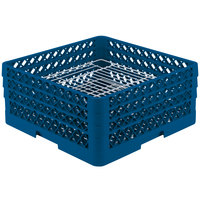 Vollrath PM4407-3 Traex Plate Crate Royal Blue 44 Compartment Plate Rack - Holds 6 inch to 7 inch Plates