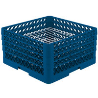Vollrath PM3208-4 Traex Royal Blue 32 Compartment Plate Rack - 7 5/8 inch-8 inch