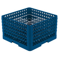 Vollrath PM2110-5 Traex® Plate Crate Royal Blue 21 Compartment Plate Rack - Holds 9 3/16 inch to 10 inch Plates