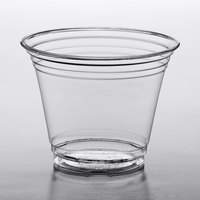 Choice 9 oz. Clear PET Plastic Squat Cold Cup - 1000/Case