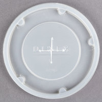 Dinex DX1196ST8714 Translucent Disposable Lid with Straw Slot for Plastic Tumblers - 1000/Case