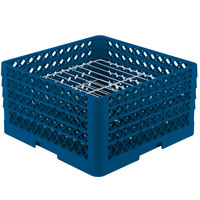Vollrath PM2209-4 Traex Royal Blue 22 Compartment Plate Rack - 7 inch-8 3/4 inch