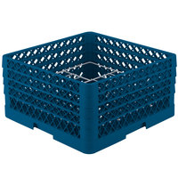Vollrath PM1211-4 Traex Plate Crate Royal Blue 12 Compartment Plate Rack - Holds 8 3/4 inch to 9 3/16 inch Plates