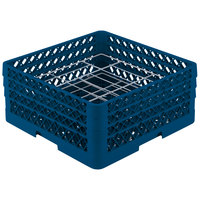 Vollrath PM2006-3 Traex Royal Blue 20 Compartment Plate Rack - 4 3/4 inch-6 1/2 inch