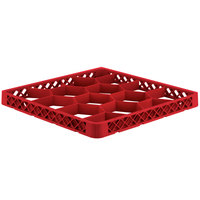 Vollrath TRJ Red Full-Size 12 Compartment Extender for Vollrath Traex Glass Racks