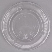Choice 9, 12, 16, 20, and 24 oz. Clear Flat Lid with Straw Slot - 50/Pack