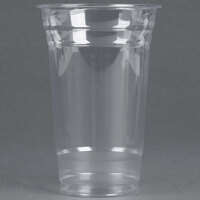 Choice 20 oz. Clear PET Plastic Cold Cup - 50 / Pack