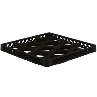 Vollrath TRJ-06 Traex® Full-Size Black 12 Compartment Glass Rack Extender