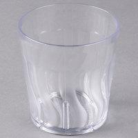 Dinex DX4GC907 Swirl 9 oz. Clear SAN Plastic Tumbler   - 72/Case