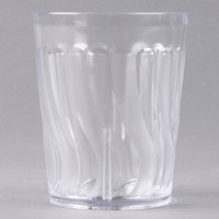 Dinex DX4GC607 6 oz. Clear Swirl SAN Tumbler - 72/Case