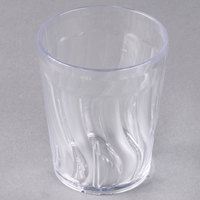 Dinex DX4GC607 Swirl 6 oz. Clear SAN Plastic Tumbler   - 72/Case