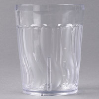 Dinex DX4GC1207 12 oz. Clear Swirl SAN Tumbler - 72/Case