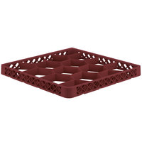 Vollrath TRJ-21 Traex® Full-Size Burgundy 12 Compartment Glass Rack Extender