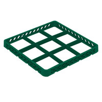 Vollrath TRF-19 Traex® Full-Size Green 9 Compartment Glass Rack Extender