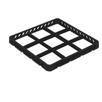 Vollrath TRF-06 Traex® Full-Size Black 9 Compartment Glass Rack Extender