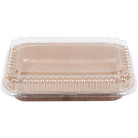 Solut 8 1/2 inch x 6 inch Bake and Show Corrugated Paperboard Entree / Brownie Pan with Lid - 10/Pack