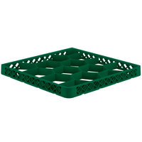 Vollrath TRJ-19 Traex® Full-Size Green 12 Compartment Glass Rack Extender