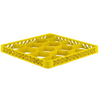 Vollrath TRJ-08 Traex® Full-Size Yellow 12 Compartment Glass Rack Extender
