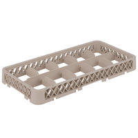 Vollrath HRC1 Traex® Half-Size Beige 10-Compartment 1 3/4 inch Dropped Glass Rack Extender