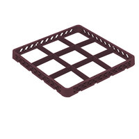 Vollrath TRF-21 Traex® Full-Size Burgundy 9 Compartment Glass Rack Extender