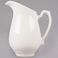 Homer Laughlin 3578000 Seville 5.5 oz. Ivory (American White) China Creamer with Handle - 24/Case