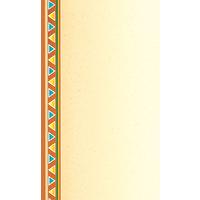8 1/2 inch x 11 inch Menu Paper - Southwest Themed Fiesta Border Design Left Insert - 100/Pack