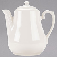 Homer Laughlin 3648000 Seville 17 oz. Ivory (American White) China Beverage Server with Lid - 12/Case