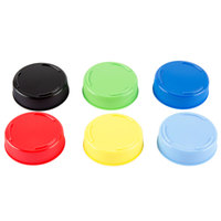 Tablecraft 53FCAPA Solid Assorted Color End Caps for Inverted or Squeeze Bottles with a 53 mm Opening   - 12/Pack