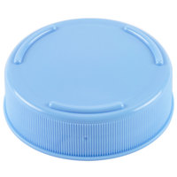 Tablecraft 53FCAPLBL Solid Light Blue End Cap for Inverted or Squeeze Bottles with a 53 mm Opening   - 12/Pack