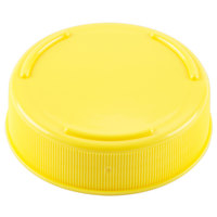 Tablecraft 53FCAPY Solid Yellow End Cap for Inverted or Squeeze Bottles with a 53 mm Opening - 12/Pack