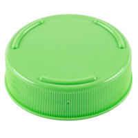 Tablecraft 53FCAPLGN Solid Light Green End Cap for Inverted or Squeeze Bottles with a 53 mm Opening   - 12/Pack