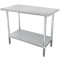 "Advance Tabco SLAG-303-X 30"" x 36"" 16 Gauge Stainless Steel Work Table with Stainless Steel Undershelf"