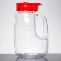 Tablecraft PP48R Option 48 oz. Dispenser Jar with Red Top