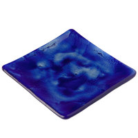 10 Strawberry Street G3001B Izabel Lam Cumulus 5 1/2 inch Blue Glass Square Plate - 12/Case