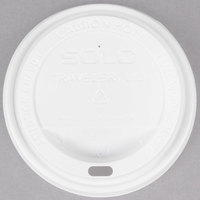 Dart Solo TLP316-0007 Traveler White Dome Hot Cup Lid with Sip Hole - 1000/Case