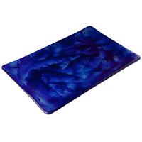 10 Strawberry Street G3002B Izabel Lam Cumulus 8 inch x 12 inch Blue Glass Rectangular Plate - 12/Case