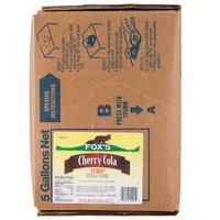 Fox's 5 Gallon Bag In Box Cherry Cola Beverage / Soda Syrup