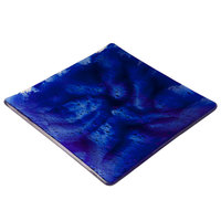 10 Strawberry Street G3000B Izabel Lam Cumulus 8 inch Blue Glass Square Plate   - 12/Case