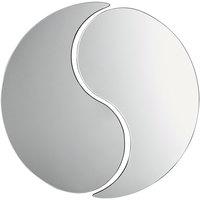 Carlisle SMTD2423 24 inch MirAcryl™ Teardrop 2-Piece Mirror Tray