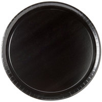 Solut 74555 15 inch Take and Bake Pizza Tray Coated Corrugated Black - 10/Pack