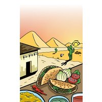 8 1/2 inch x 11 inch Menu Paper - Southwest Themed Taco Design Cover - 100/Pack