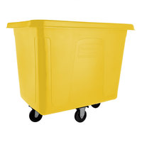 Rubbermaid FG461600YEL Yellow 16 Cu. Ft. Bulk Cube Truck (500 lb.)