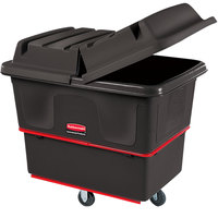 Rubbermaid FG471200BLA Black 12 Cu. Ft. Utility Cube Truck (800 lb.)