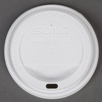 Dart Solo TLP316-0007 Traveler White Dome Hot Cup Lid with Sip Hole - 100 / Pack