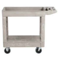 Rubbermaid FG450089BEIG Beige 500 lb. Two Shelf Utility Cart 18 x 39 x 33 1/4