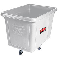 Rubbermaid FG460800WHT White 8 Cu. Ft. Bulk Cube Truck (300 lb.)