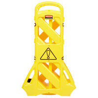 Rubbermaid FG9S1100YEL Yellow Portable Safety/Wet Floor Barrier