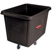 Rubbermaid FG460800BLA Black 8 Cu. Ft. Bulk Cube Truck (300 lb.)