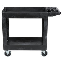 Rubbermaid FG450089BLA Black 500 lb. Two Shelf Utility Cart 18 x 39 x 33 1/4